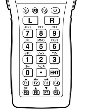 casio dt930数据采集器如何手工输入条形码?