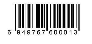 6949767600013条码显示