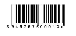 694976760001x条码显示
