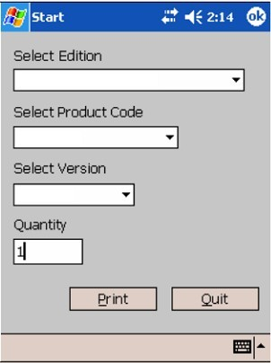 Print Form File with Pocket LabelGallery