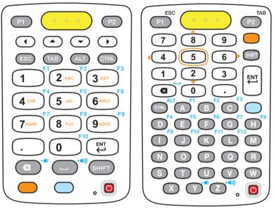 斑马MC3300 29和47键布局