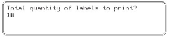 total quantity of labels to print