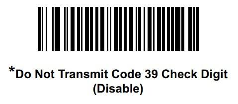 去掉传送Code39校验位
